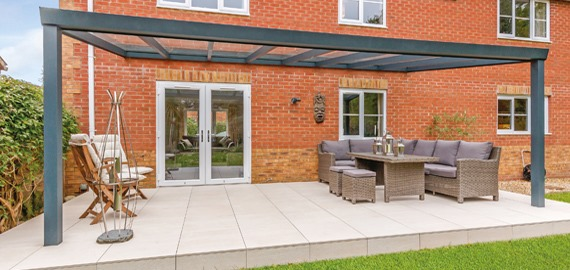 Aspire+ Anthracite Grey Glass Veranda