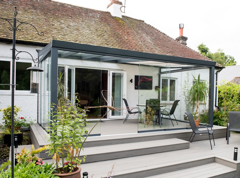 Anthracite Grey Panorama Garden Room