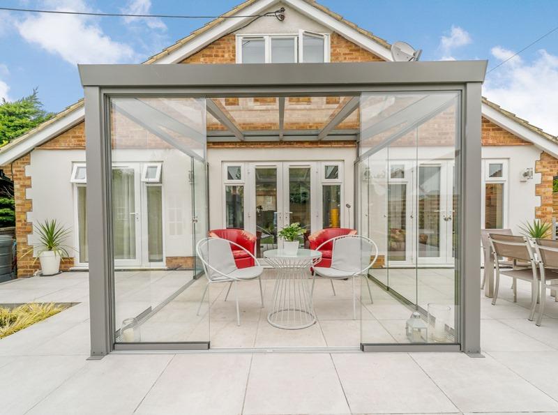 Grey Aluminium Panorama Garden Room