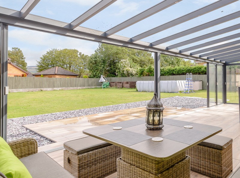 Anthracite Grey Panorama Garden Room