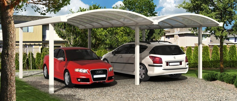 Double Free Standing Carport Type